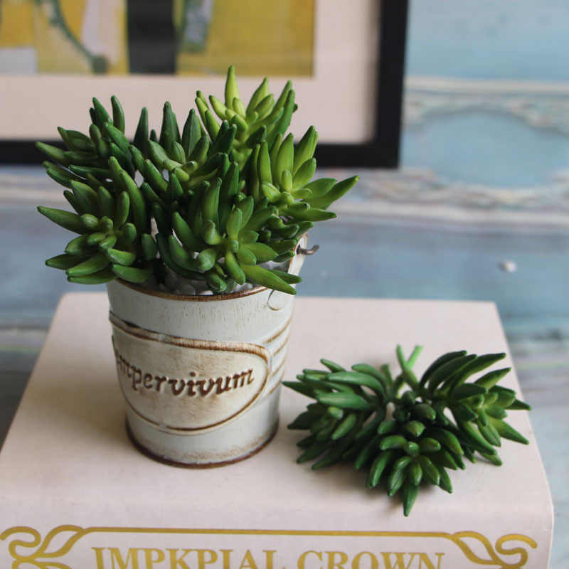 2 sztuk/zestaw sztuczne sukulenty Mini Octopus Claw rośliny trawa pustynia sztuczna roślina krajobraz fałszywy kwiatowa ozdoba do domu,
