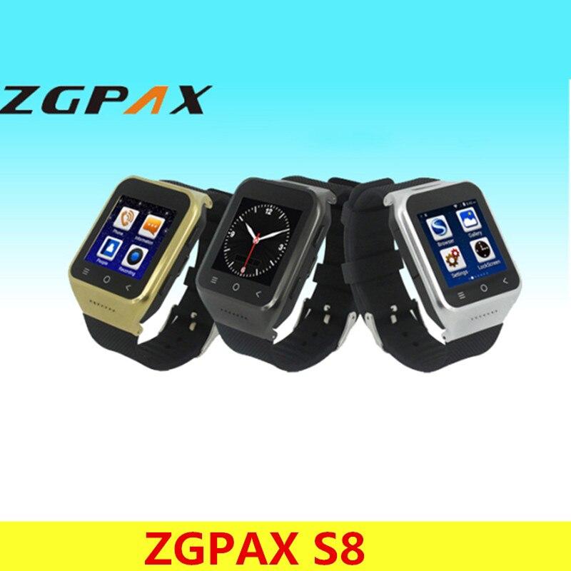 ZGPAX S8 Smartphone Bluetooth Smart Watch Android 4.4 MTK6572 Dual Core GPS 2.0MP Camera WCDMA WiFi MP3 MP4 Smartwatch PK Q18 U8 цена