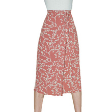 2019 spring skirts womens casual a line skirt printing long