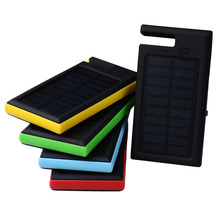 8000mAh Solar Battery Charger Power bank Waterproof External Battery Pack portable Powerbank LED Light for Smart Mobile Phone