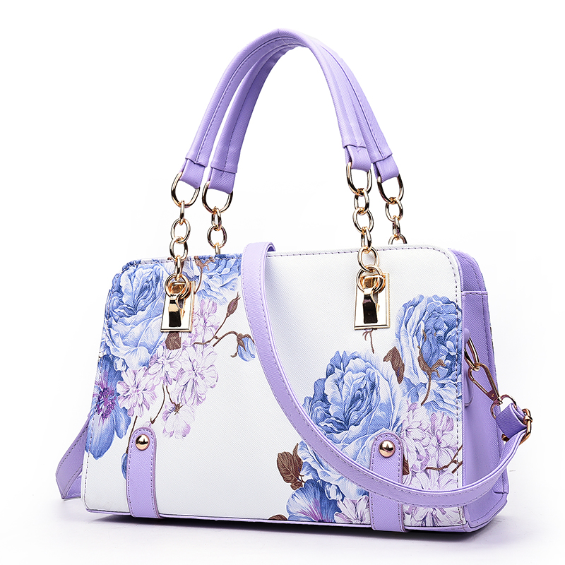 Hot Sale Printing Floral Fashion Brand Women Bag Shell Leather Bags Ladies Handbags  Summer Shoulder Bags Sac A Main Femme-in Top-Handle Bags from Luggage ... 2e7058804