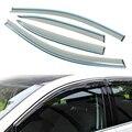 4 pçs/lote estilo do carro ventilação sombra sol guarda chuva tampa da janela viseira para Volkswagen VW Golf 7 2013 + - 2015 acessórios de alta qualidade