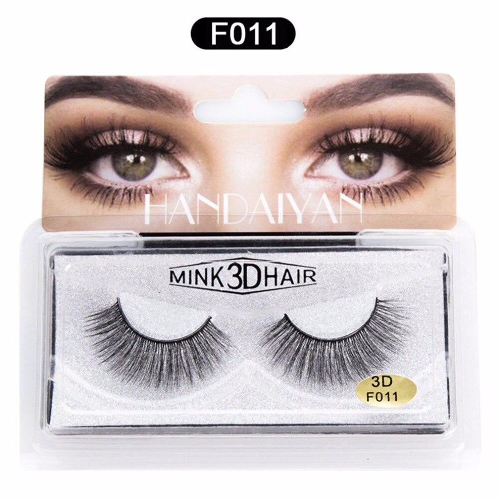 b5d75f0f99b 1 Pair 3D Mink False Eyelashes Fake Eye Lashes Handmade Strip Lashes Eyelash  Natural Bending Makeup Cosmetics Tool Box dropship