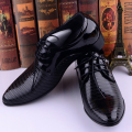 New 2016 Fashion Italian Style Men Dress Wedding Shoes Luxury Men's Business Oxfords Casual Flats Black Leather Derby Shoes