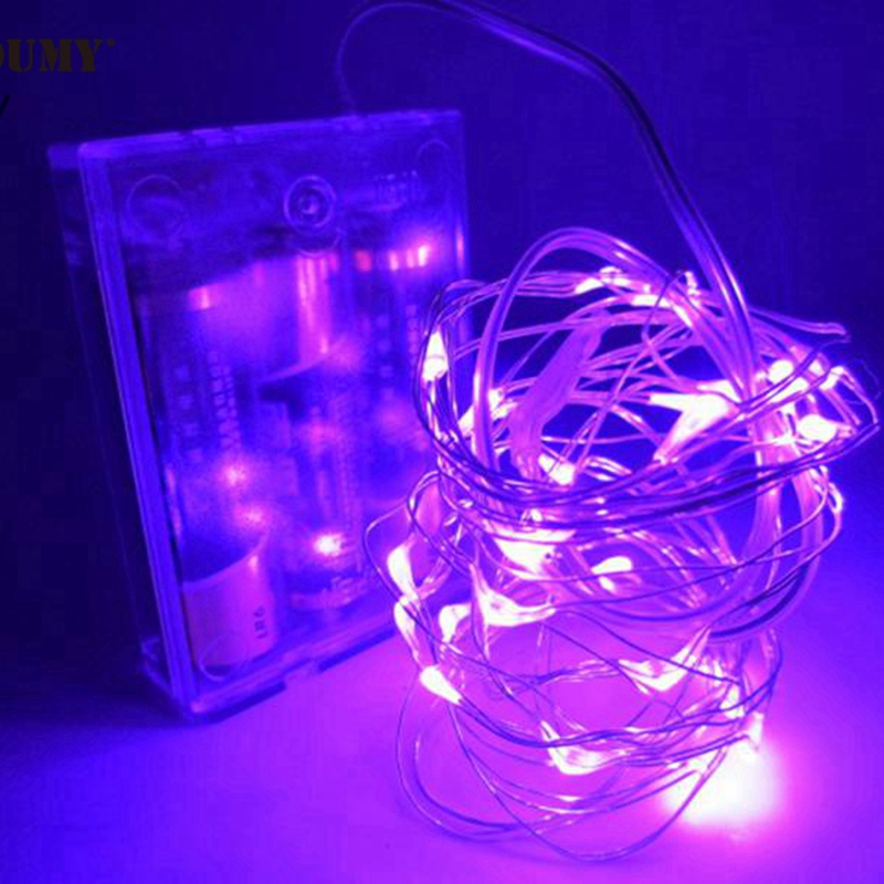 SZYOUMY 5M 50 LED String Fairy Light Batteri Operated Xmas Party - Festlig belysning - Foto 5