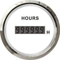 100% brand new 52mm hour meters digital hourmeters clock gauges waterproof suitable for auto boat motor home black