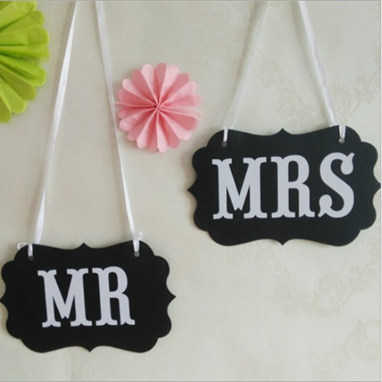 1 Set Mr & Mrs Brief Guirlande Banner Photo Booth Bruiloft Gunst - Feestversiering en feestartikelen - Foto 5