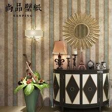 0.53x10m  vertical striped pattern nonwoven  wallpaper bedroom living room wedding shop  decoration wallpaper