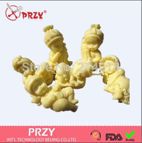 Sleeping baby /hat/Feeding bottle/girl boy baby/baby family shaped Soap mold DIY Silicone fondant Cakedecoration handmade mold