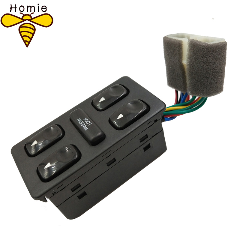 New Front Left Driver Side Electric Power Master Window Switch For 1992 1993 1994 Hyundai Elantra Galloper for nissan tiida lhd 2011 2014 front left driver side electric switch car window master button 25401 3df0b