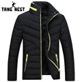TANGNEST 2017 Solid Color Fashion Winter Jacket Men New Arrival Casual Warm Stand Collar Men Jacket Popular Parka Men MWM1582