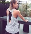 Señoras Camis Camisetas Sin Mangas de Fitness Semi Fina Malla Ahueca Hacia Fuera la Blusa Entallada Blusa Mujeres Suaves de La Transpiración de Mecha Recortada feminino yt057