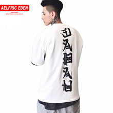 Aelfric Eden 3XL Oversized T-shirts Mannen Tops Joint Evil T-shirt Streetwear Vogue Losse Paar Tee Shirt Casual Hip Hop tshirt(China)
