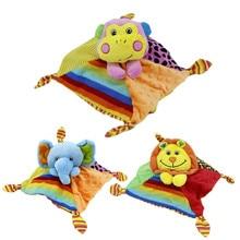 2016 Kawaii 3Styles Lion Monkey Elephant Plush Animal Toys Multifunctional Plush Toy Stroller Mobile Gifts
