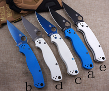 C81 58HRC 8CR13MOV blade 2 colors G10 handle 3 colors blade camping survival folding knife outdoor tools tactical knives