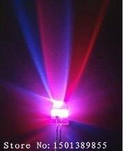F5 5mm 7 farbe Langsam RGB Flash Regenbogen Multi Farbe Lange Bein Licht Emittierende Diode Runde LED Volle Farbe transparent 2 PIN