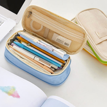1PC Canvas School Pencil Box Storage Bag Pen Student Stationery Pencilcase Kids Make Up