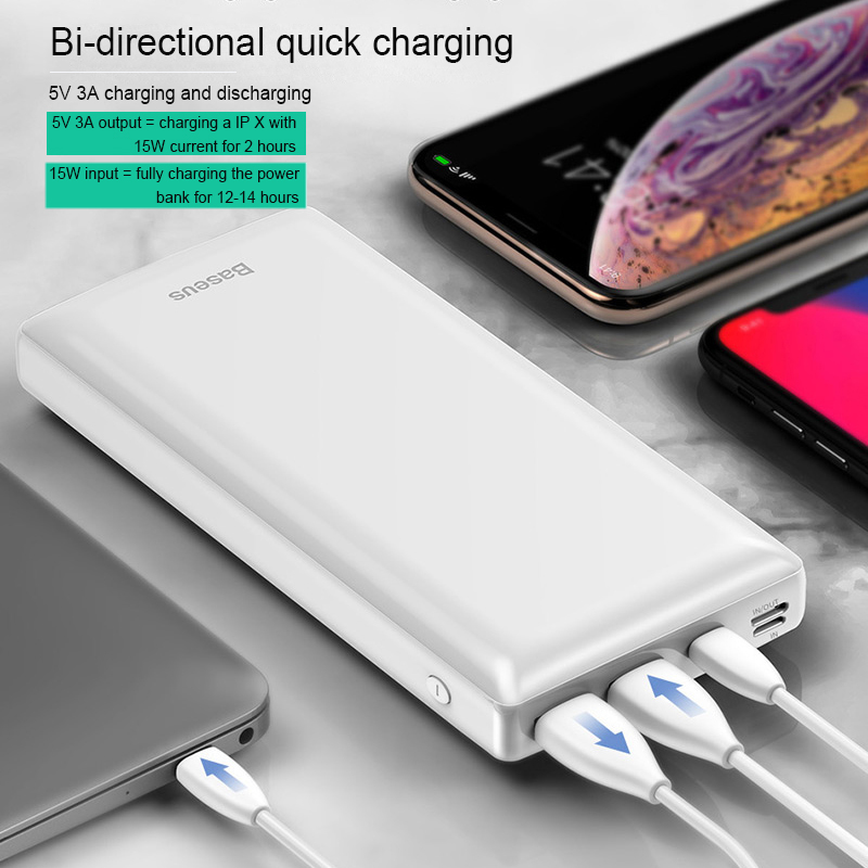 Baseus 30000mah Big Capacity Powerbank For Mobile External Battery Phone Quick Charger 3.0 Type C Power bank For iPhone Samsung 4