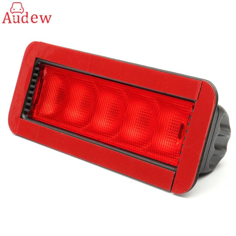 1Pcs Car Red 5LED 12V Rear High Mount Lever Third 3RD Brake Stop Tail Light Car LED Light 0.5W Plastic Universal