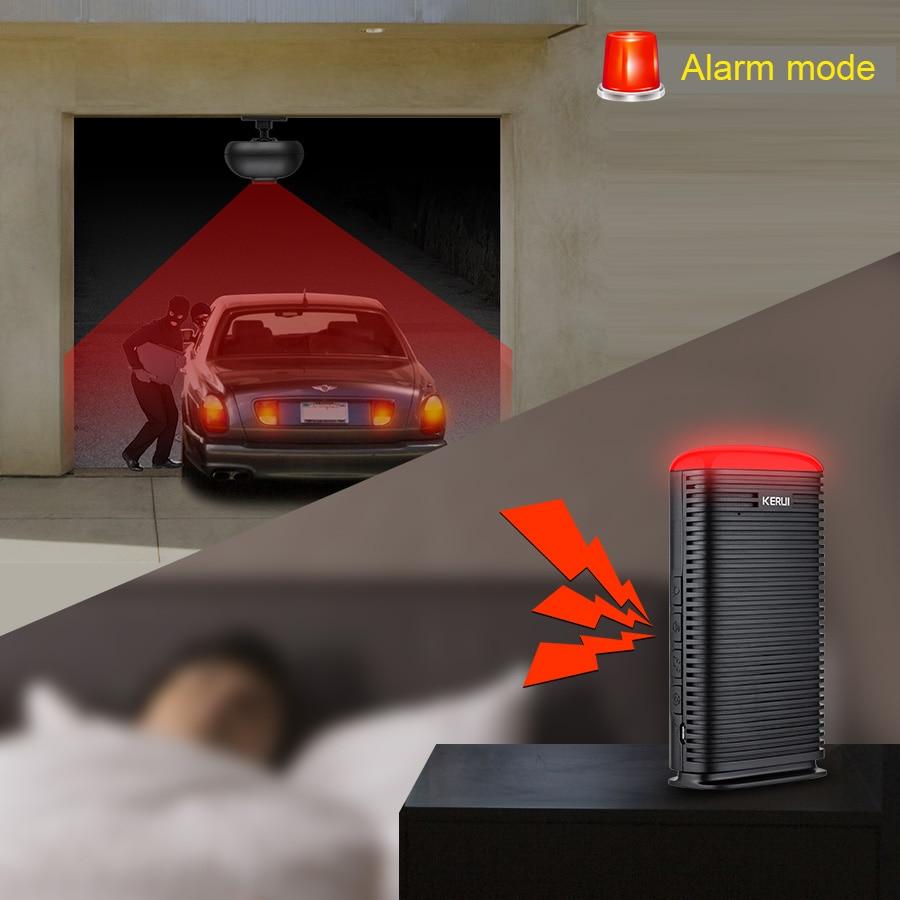 Image 4 - KERUI Wireless Home Alarm Waterproof PIR Motion Sensor Detector Security Alarm System Driveway Garage burglar Sensor Alarm-in Alarm System Kits from Security & Protection