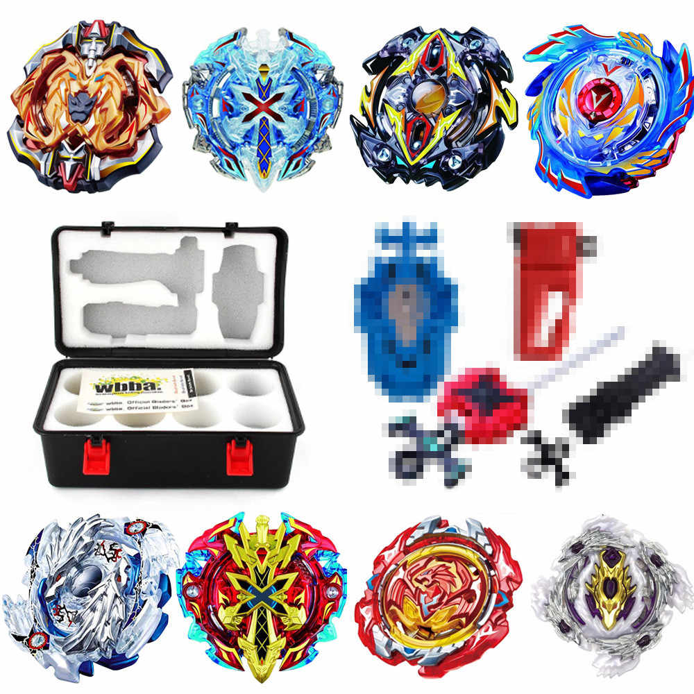 8 stuks Metal Fusion Spinning Top Set Opbergdoos Top Spinning Top burst bey speelgoed blade 4 Launcher Speelgoed B121 b122 B125 B127
