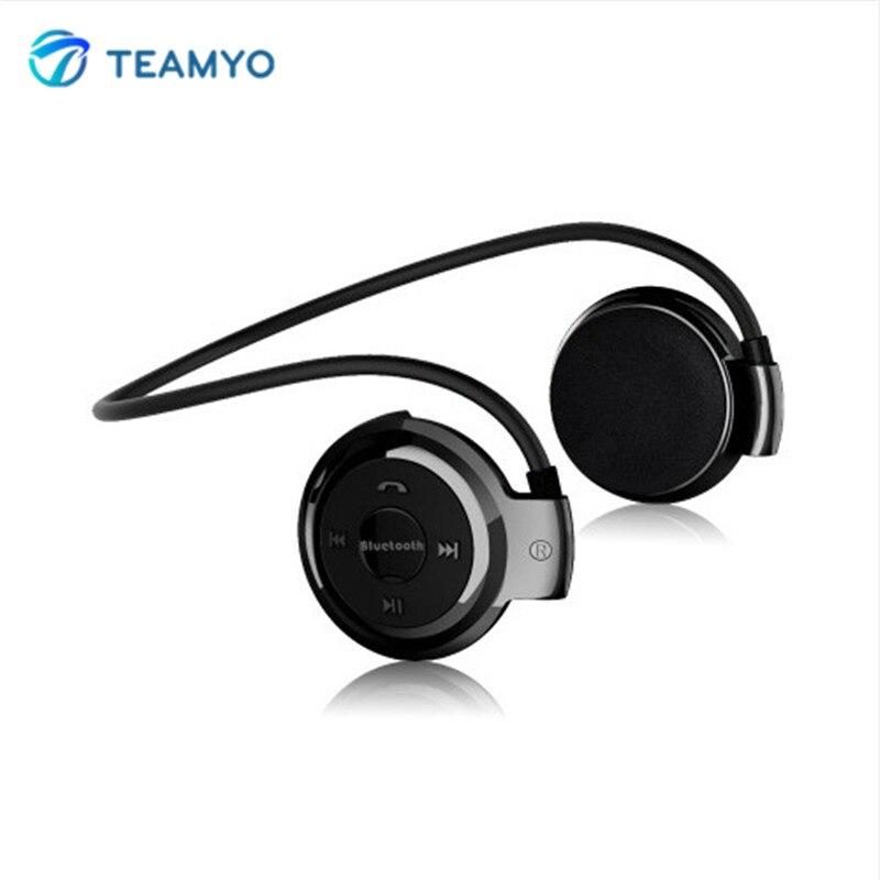 Teamyo S503 Mini Bluetooth Earphone Headset With FM Radio Mic Sport Wireless Stereo Headphones + Micro SD Card Slot auriculares wireless headphones bluetooth headset 4 in 1 earphone earbuds with mic micro sd tf fm radio for iphone 7 6s ipad android device