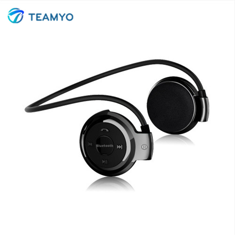 Teamyo S503 Mini Bluetooth Earphone Headset With Microphone Sport Wireless Headphone + Micro SD Card Slot Music Stereo headset wireless bluetooth earphone headphones s9 sport earpiece headset with tf card slot 8g auriculares with micro for iphone android