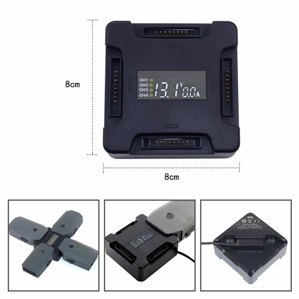 4 in1 mavic pro battery Digital Display Charging Board mavic charger Hardshell Battery Charger for dji mavic pro battery