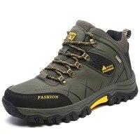 New Waterproof Men Hiking Shoes High Top Trekking Boots Autumn Winter Mountain Climbing Sports Sneakers Big