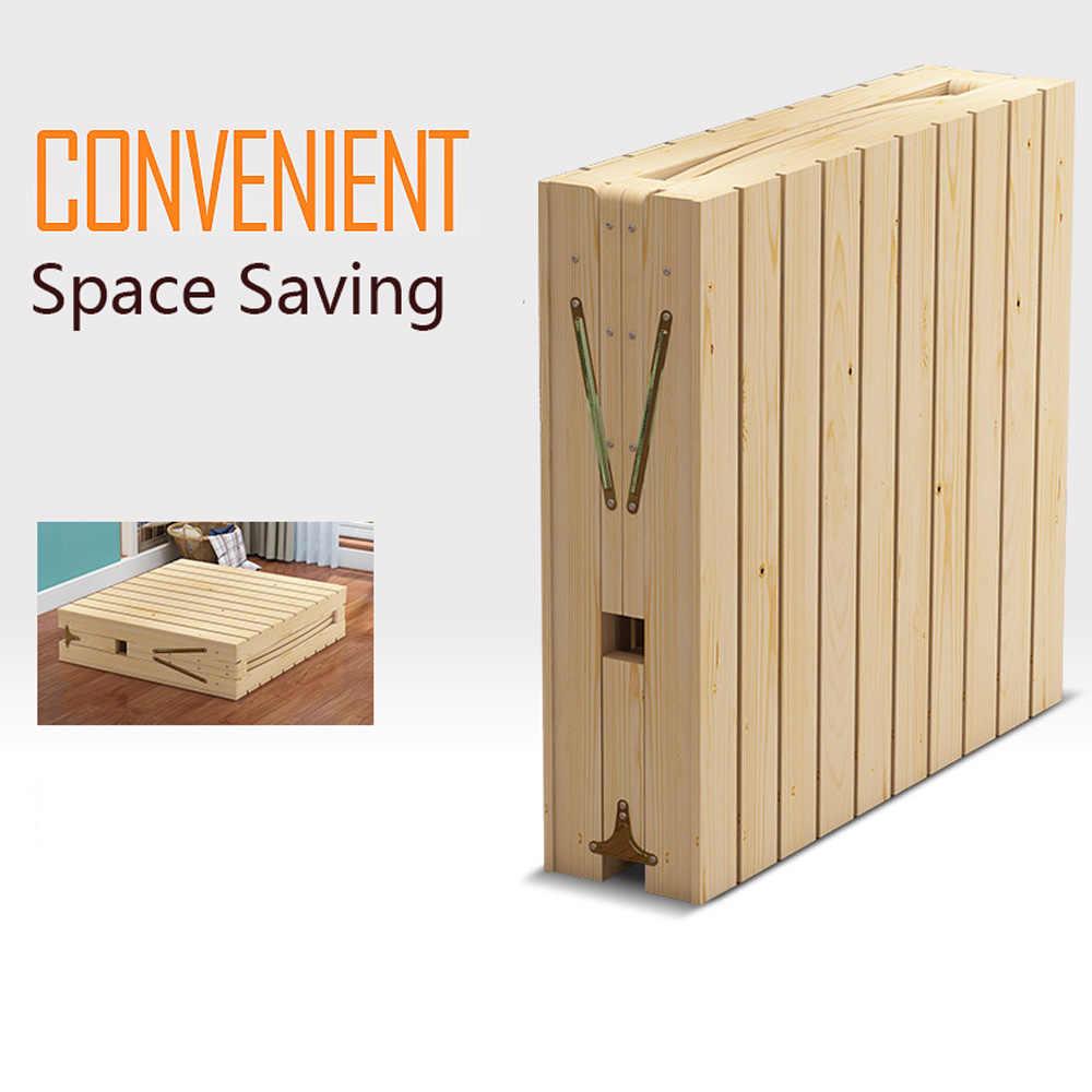 - 100% Wooden Bed,Folding Wooden Beds, Children's Adult Furniture