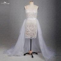 RSW1268 Detachable Skirt Wedding Dress Short Front Long Back