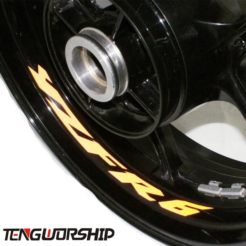 Teng Worship 8 X CUSTOM INNER RIM DECALS <font><b>WHEEL</b></font> Reflective <font><b>STICKERS</b></font> STRIPES FIT <font><b>YAMAHA</b></font> YZF <font><b>R6</b></font> YZF-<font><b>R6</b></font> image