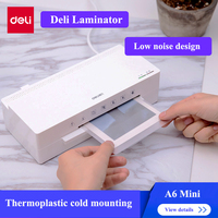 Deli 2897 Mini laminator A6 size Cold & Hot laminator max. photo width 115mm Automatic laminator 220 240V 50Hz