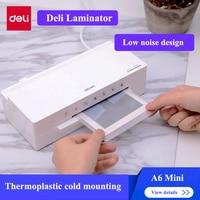Deli 2897 Mini laminator A6 size Cold & Hot laminator max. photo width 115mm Automatic laminator 220 240V 50Hz