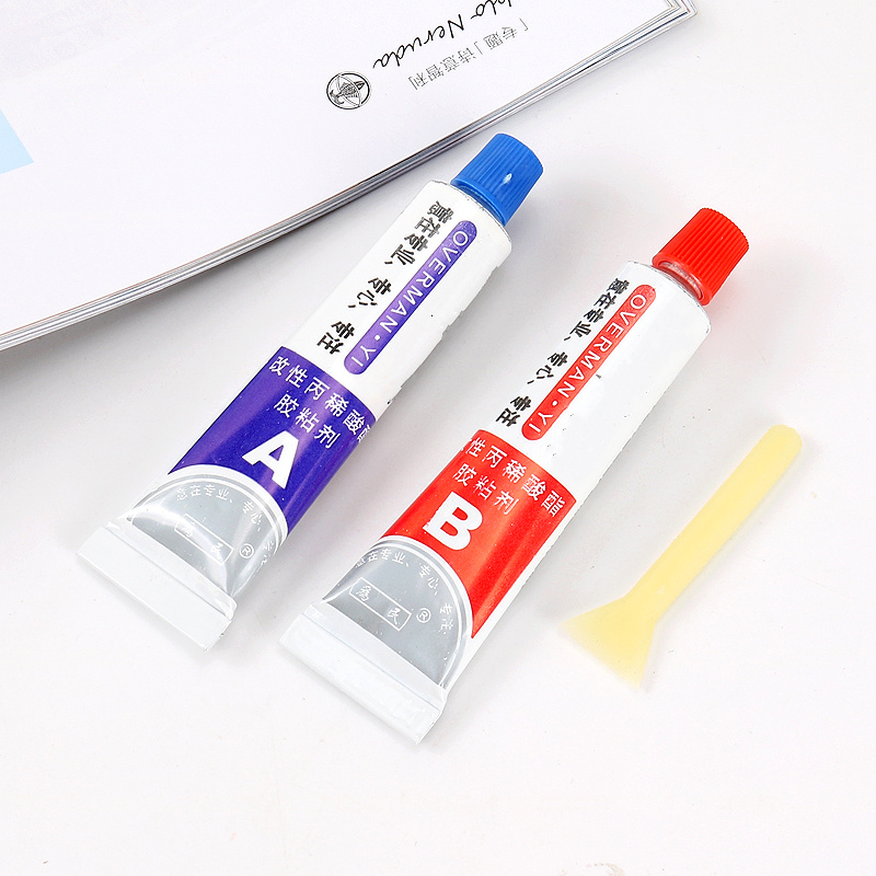 Multifunction 2pcs(A+B) Modified Acrylic Glue Adhesive for Metal Plastic universal fixed glue,Free shipping .