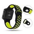 Silikon Band Für Fitbit Blaze Band mit Rahmen Weiche Atmungsaktive Sport ersatz band Für Fitbit Blaze Smart Fitness armband-in Uhrenbänder aus Uhren bei