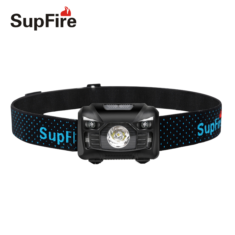 SupFire Flashlight Sensitive Switch Headlamp HL06 CREE XPE R5 LED Headlight Camping Outd ...