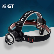 GT-Lite LED Headlamp Cree T6 1380lm Rechargeable 18650 battery Headlight For Bike Camping Climbing Outdoor Fishing Light GTHL01