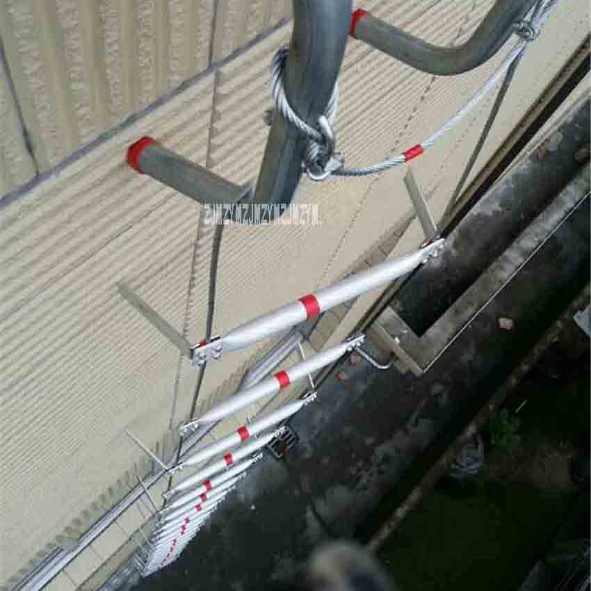30m High-quality Fire Rescue Equipment Fire Rescue Ladder Folding Aluminum Soft Ladder Escape Rope Ladder To Safety Self-help High Quality Goods Construction Tools Ladders