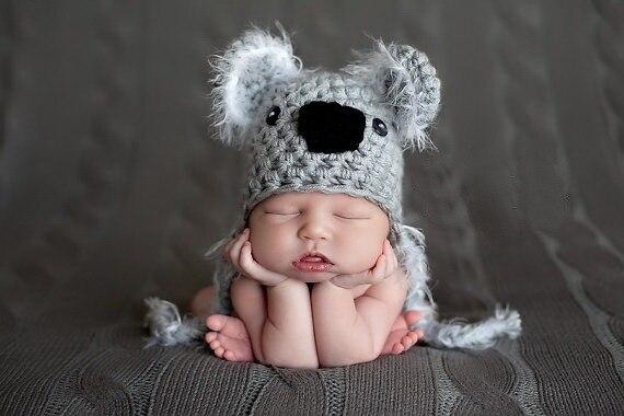 Cartoon Koala Neugeborenen Hut Baby Mädchen Jungen Hüte