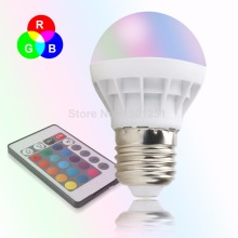 E27 LED 16 Color Changing RGB Magic Light Bulb Lamp 85-265V RGB Led Light Spotlight + IR Remote Control Free Shipping