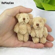 10 шт./лот мини-соединение медведь мягкие плюшевые игрушки 6,5 см милый светильник Ted медведи кулоны-куклы подарки на день рождения Свадебная вечеринка Декор J00502