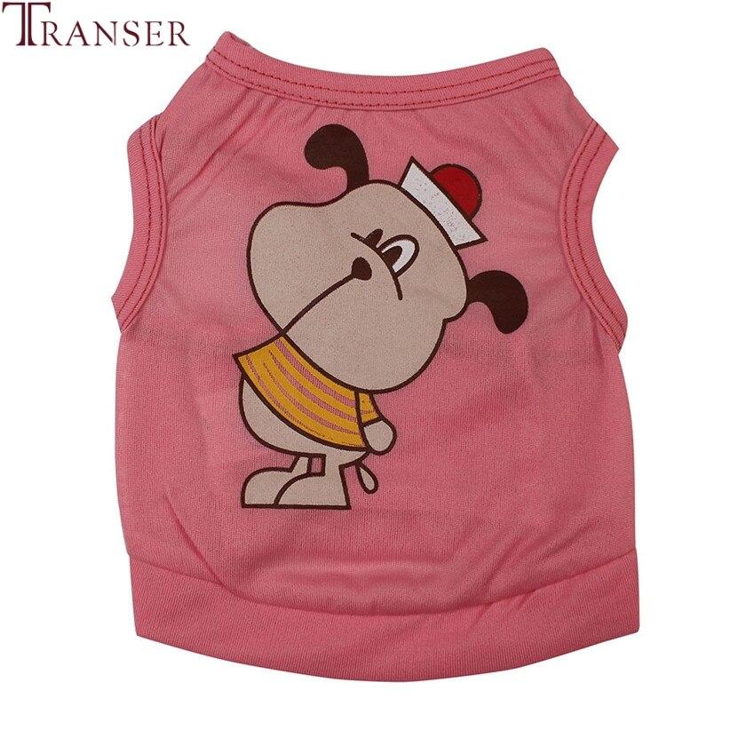 Transer Pet Dog Clothes For Small Dogs Cartoon Print Cute Teddy Dog Vest Summer Sleeveless Pet Shirt 80118