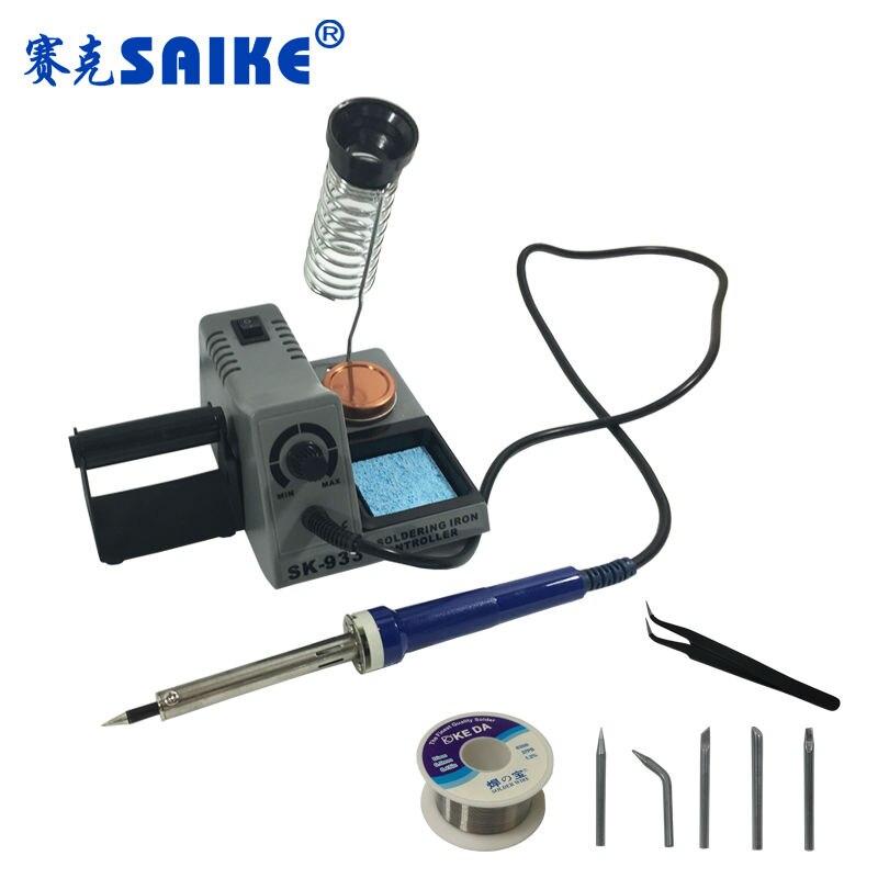 ФОТО SK-933 60W Soldering station Heat soldering iron Electric soldering iron Welding 220V
