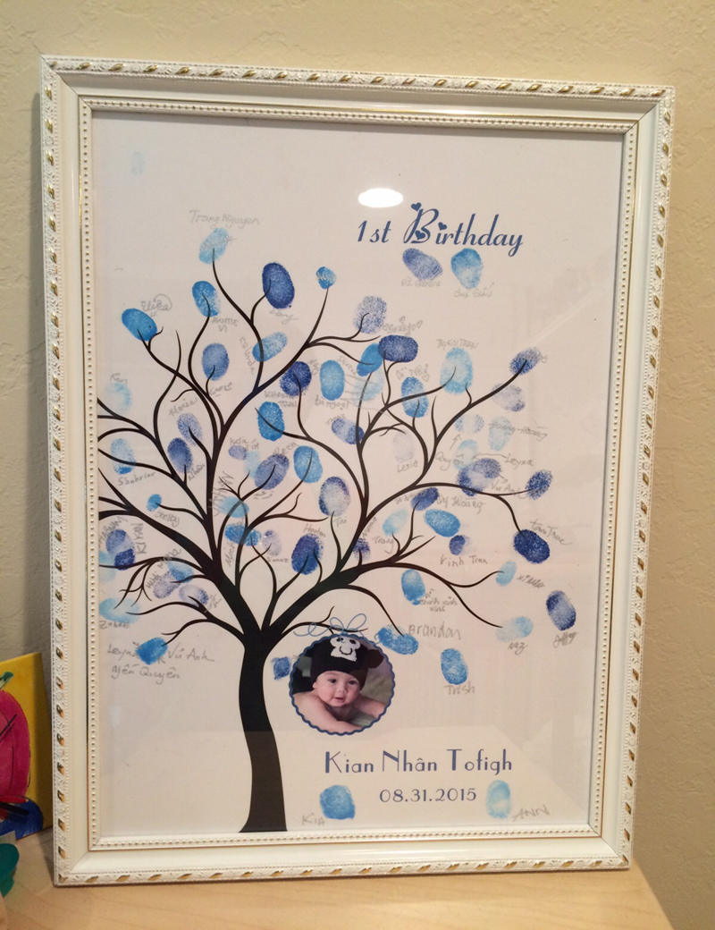 Customized Wedding Fingerprint Tree Guestbook Alternative Party Guest Book Canvas Printing Baby Shower Decorations In Cards Invitations From Home
