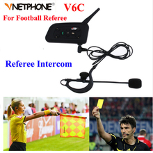Vnetphone Professional Football Referee Intercom full duplex 1200M Referees font b headset b font V6 Wireless