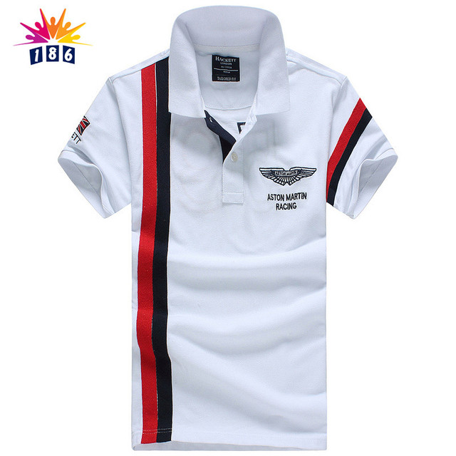 summer new men's boutique embroidery breathable 100% cotton polo shirt lapel Men's Leisure Air Force One polo shirt size M-XXL