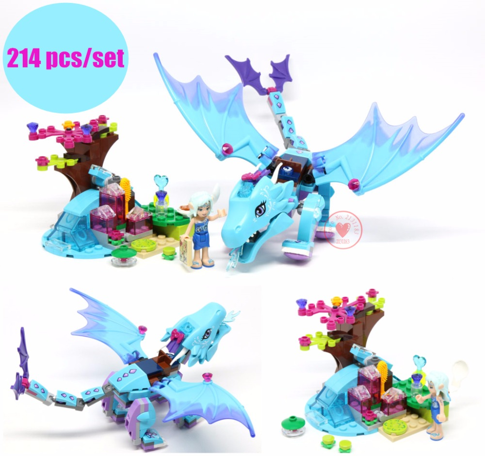 New The Water Dragon Adventure fit legoings elves fairy Dragon figures Building Blocks Bricks DIY toy friends kid gift set 2018 new girl friends fairy elves dragon building blocks kit brick toys compatible legoes kid gift fairy elves girls birthday