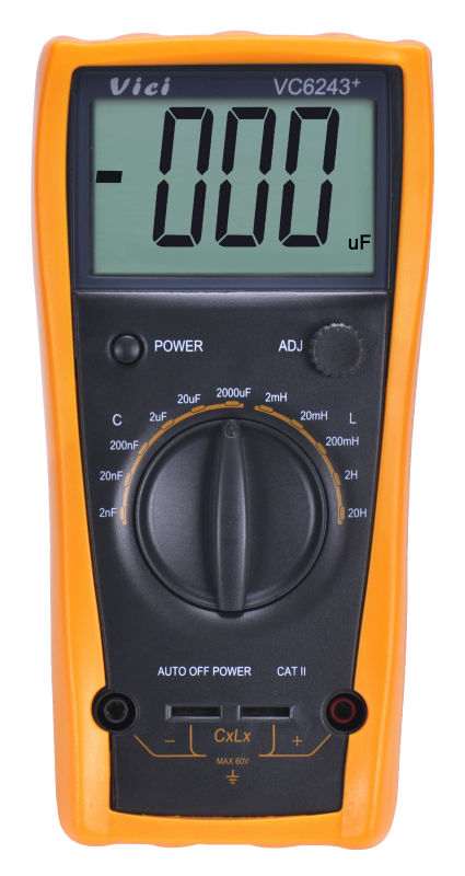 Vichy ViCi VC6243+ high presion LC Meter Inductance Capacitance Digital with Automatic power failure without burning table high precision digital capacitance inductance meter auto ranging component tester 500kh lc rc oscillation inductance multimeter