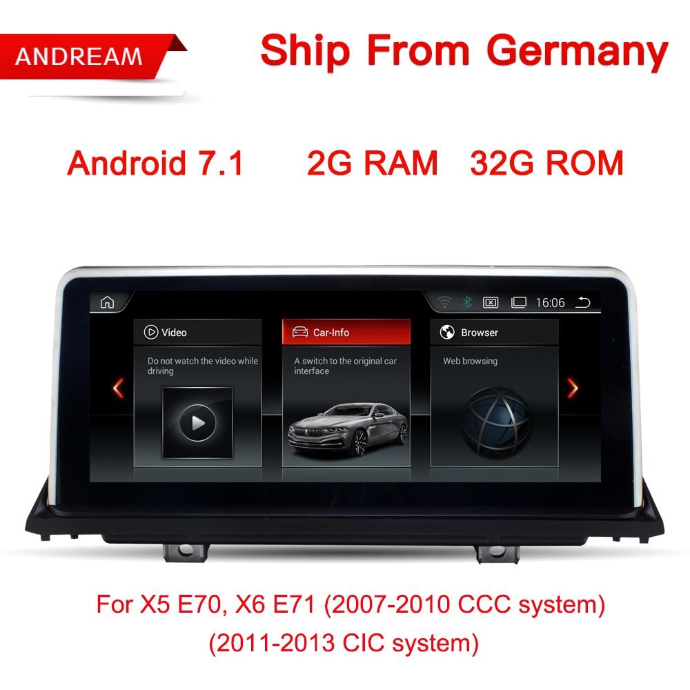 10,25 Android 7,1 автомобиль мультимедийный плеер для BMW E70 E71 X5 X6 Bluetooth gps-навигации Wi-Fi Бесплатная Германии доставка EW969B